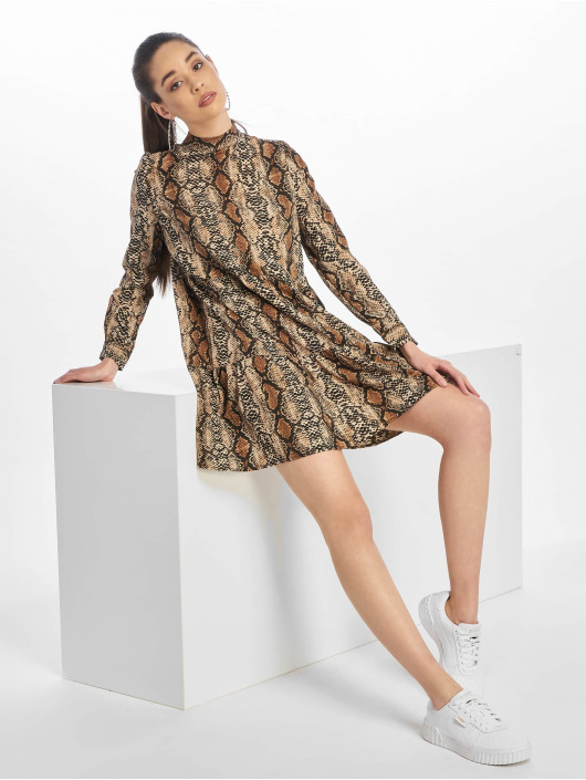 Noisy May Dress nmSnake brown