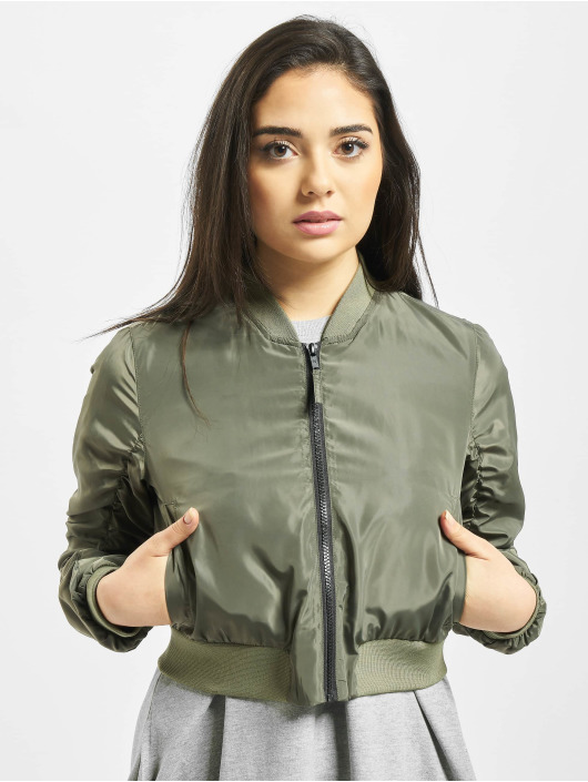 Noisy May Giubbotto Bomber nmSadie Crop oliva