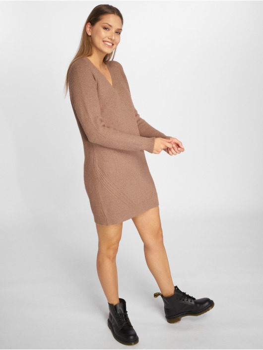 Noisy May Kleid nmSati Cable Knit braun