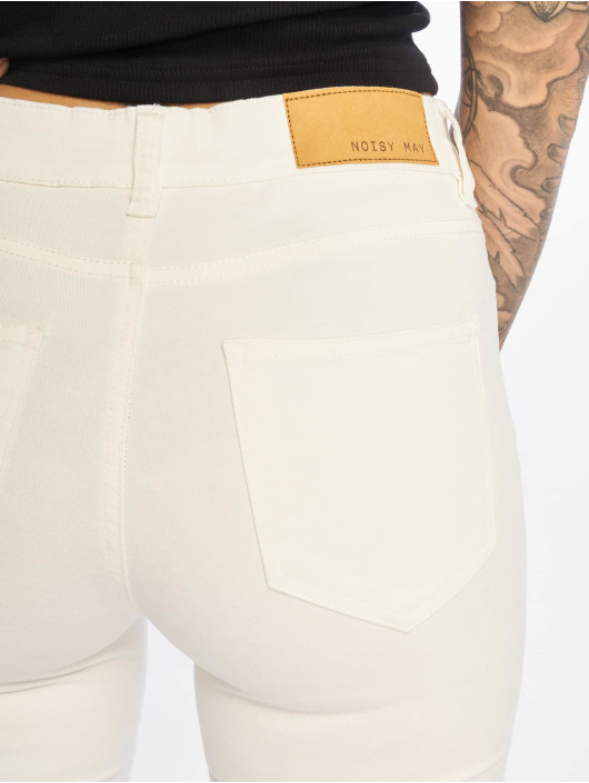 Pantalon Chino May Nmlucy Noisy 625203 Blanc Femme Lq4R5jA3