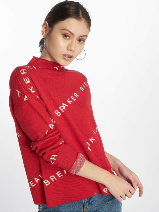 Noisy May Pullover nmHeart Breaker High Neck Knit X2 red