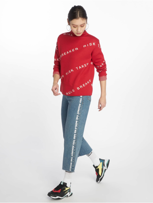 Noisy May Pullover nmHeart Breaker High Neck Knit X2 rot