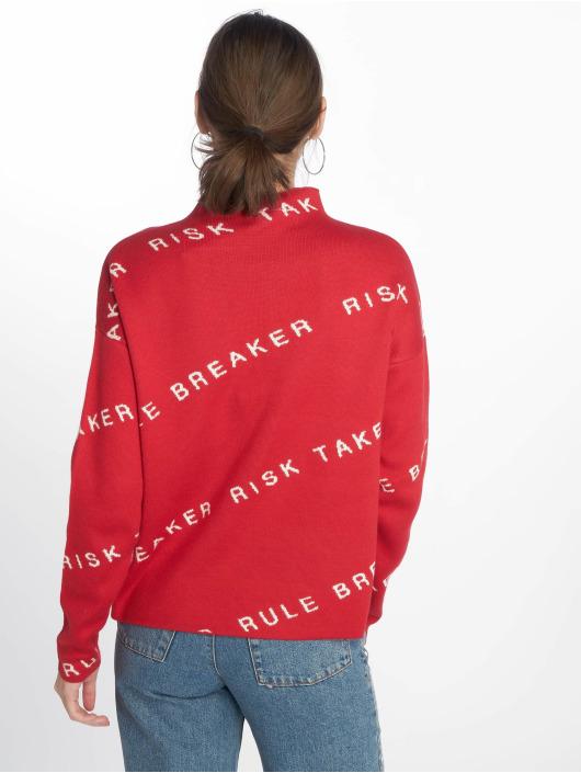 Noisy May Pulóvre nmHeart Breaker High Neck Knit X2 èervená