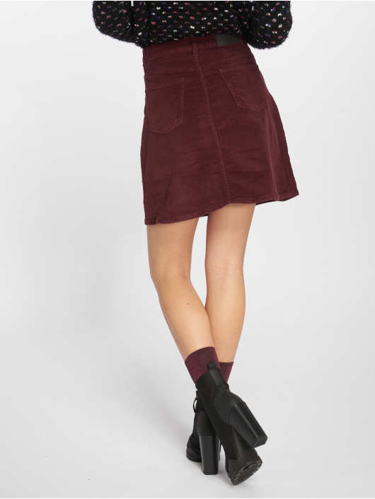 cheaper 7ce1f 93bd0 Noisy May nmSunny Corduroy Skater Skirt Port Royale