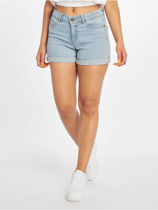 Noisy May Shorts nmBe Lucy Fold Noos blå