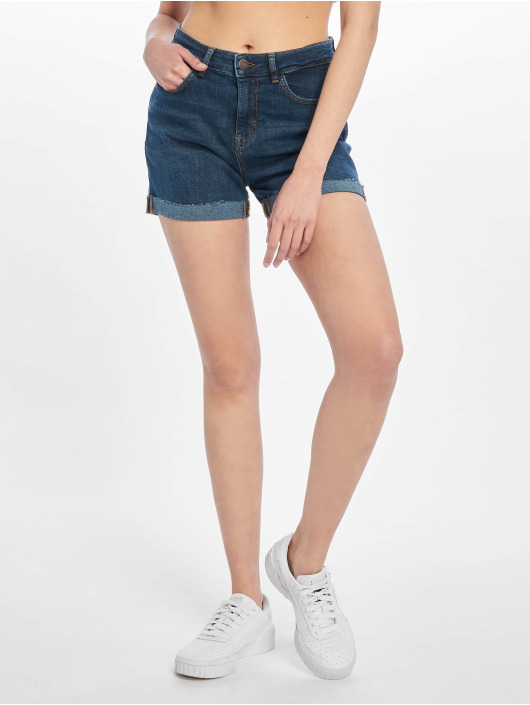 Noisy May Shorts nmBe Lexi Highwaist blå
