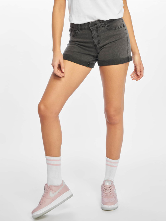 Noisy May shorts nmBe Lucy Normal Waist Denim Fold grijs