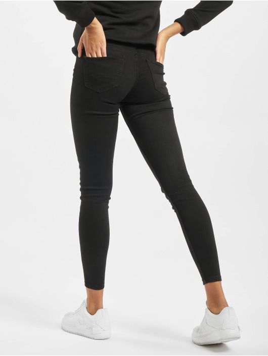 Noisy May Skinny Jeans nmEve Low Waist Pocket čern