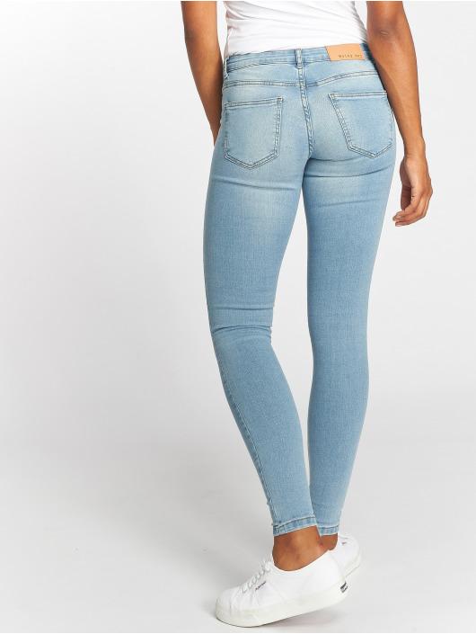 Noisy May Skinny Jeans nmEve LW Pocket Piping blau