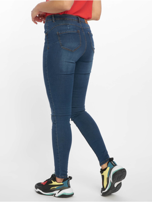 Noisy May Skinny Jeans nmJen Normal Waist Noos blau