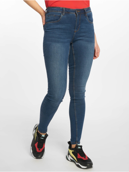 Noisy May Skinny jeans nmJen Normal Waist Noos blauw