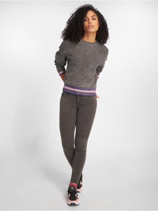 noisy may damen skinny jeans nmextra eve low waist in grau. Black Bedroom Furniture Sets. Home Design Ideas