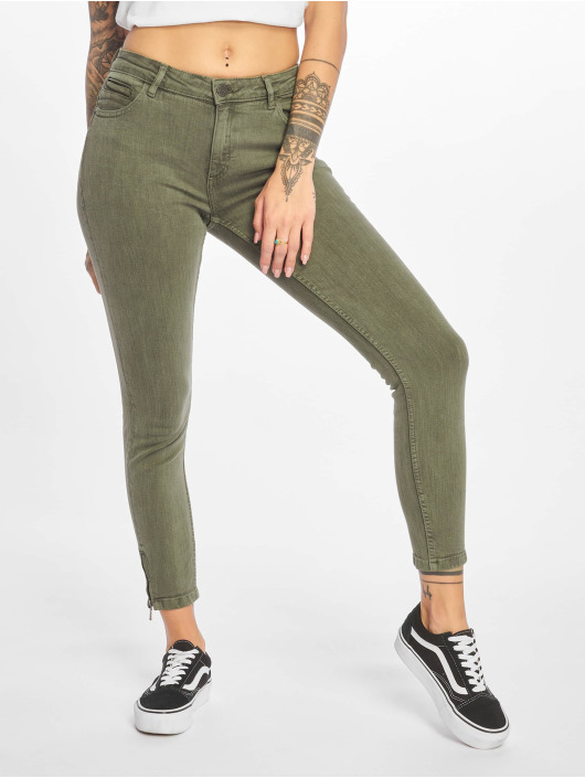 Noisy May Skinny jeans nmKimmy olijfgroen