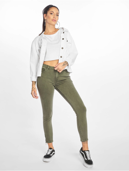 Noisy May Skinny Jeans nmKimmy oliven