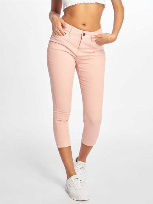 Noisy May Skinny Jeans nmLucy NW Skinny Cropped CLR X rosa