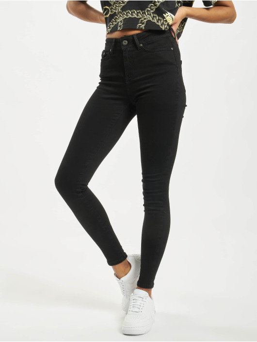 Noisy May Skinny Jeans nmVicky Normal Waist schwarz