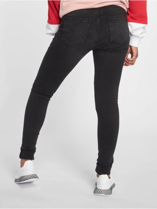 Noisy May Skinny jeans nmLucy Pocket Piping zwart