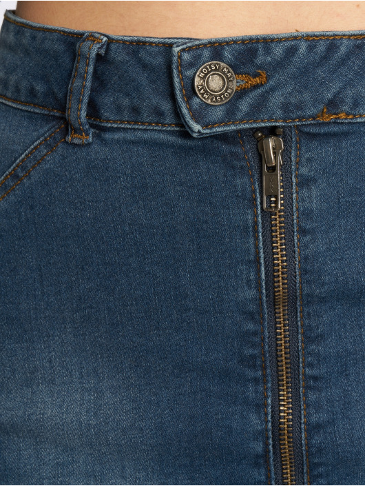 Noisy May Skjørt nmBelucy Zipper Denim blå