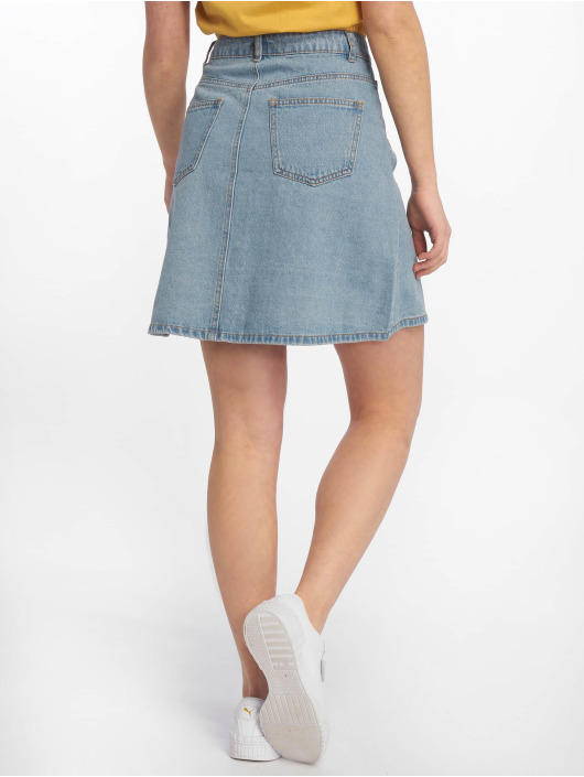 Noisy May Skjørt nmSunny Noos Short Denim Skater blå