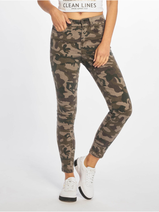 Noisy May Slim Fit Jeans nmLucy camouflage