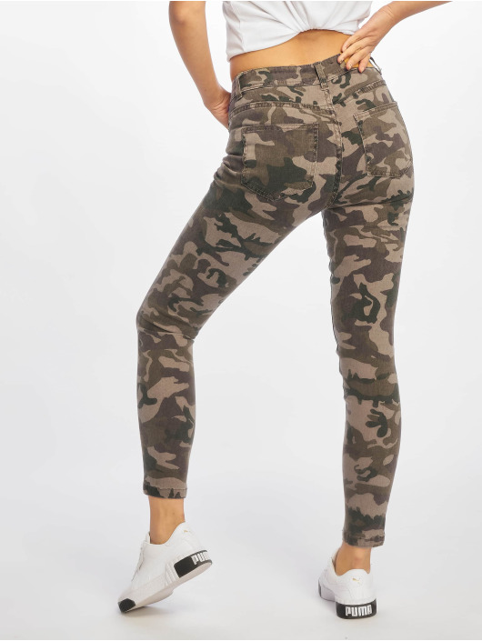 Noisy May Slim Fit Jeans nmLucy kamuflasje