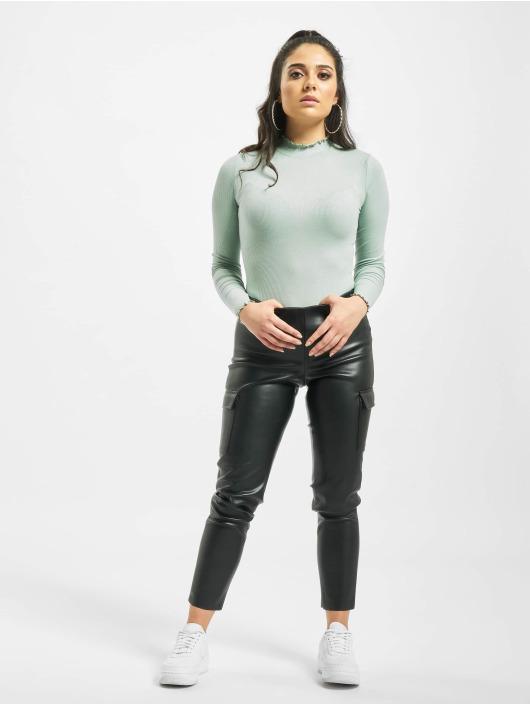 Noisy May Spodnie Chino/Cargo nmSeray czarny