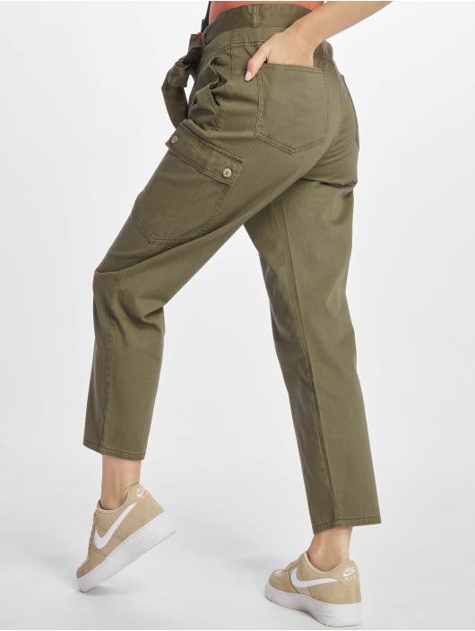 Noisy May Spodnie Chino/Cargo nmMimi Crispy Belt oliwkowy