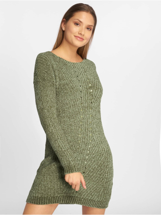 Noisy May Sukienki nmMaria Knit oliwkowy