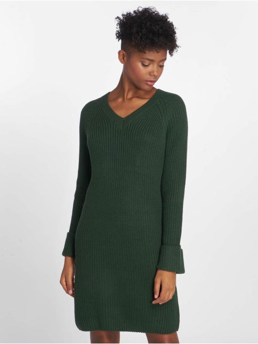 Noisy May Sukienki nmSiesta Knit zielony