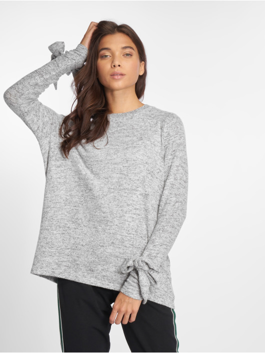 Noisy May Sweat & Pull Nmmillie L/s O-Neck Knit 6 gris