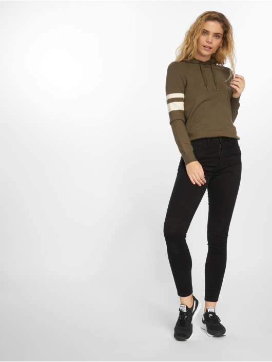 Noisy May Sweat capuche nmFreddie Knit olive