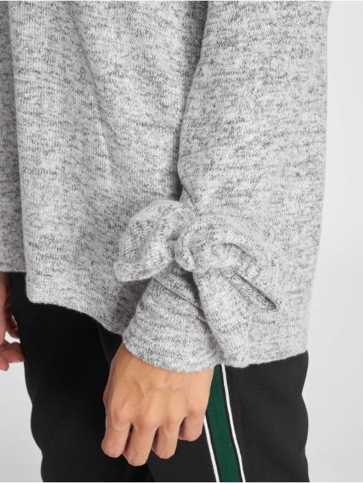 Noisy May Swetry Nmmillie L/s O-Neck Knit 6 szary