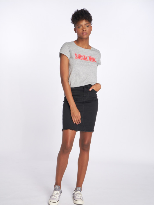 Noisy May T-Shirt nmNate Printed gris