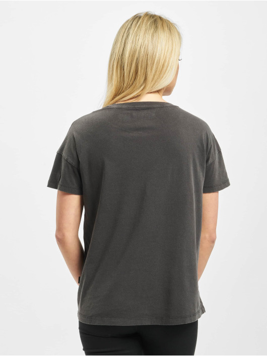 Noisy May T-Shirt nmLicie Command Washed schwarz