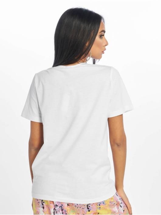 Noisy May T-skjorter nmSara Face Print hvit