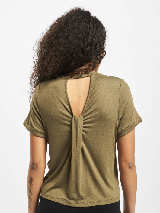 Noisy May Top nmSalle Back Detail olive