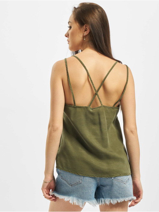 Noisy May Top nmMaisie Endi Strap oliven