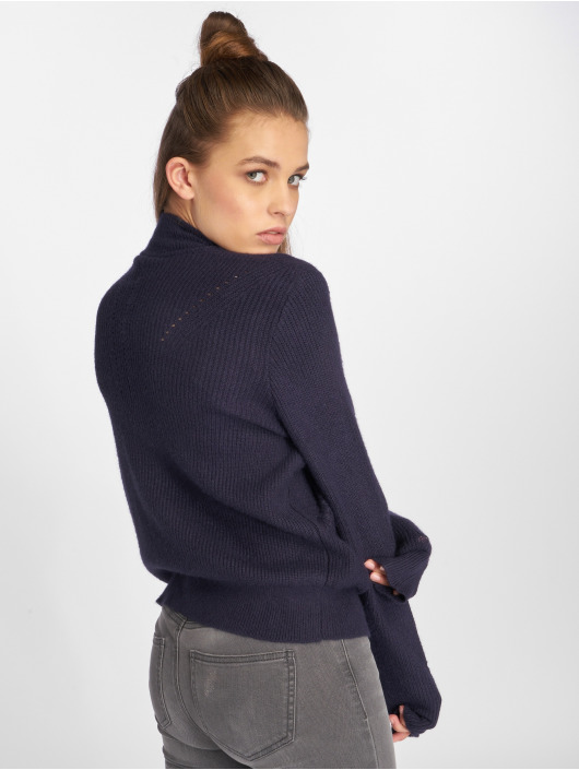 Noisy May trui nmSati Hole Knit blauw