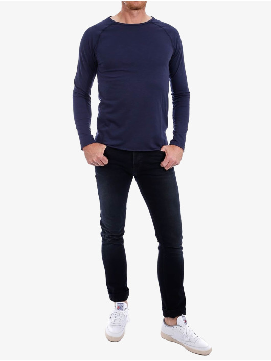 Nudie Jeans Longsleeve Otto Raw blau