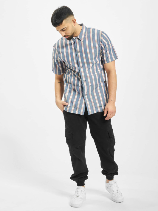 Nudie Jeans Shirt Svante Cuban Stripe blue