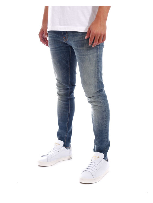 Nudie Jeans Slim Fit Jeans Tight Terry blau
