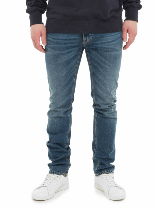 Nudie Jeans Slim Fit Jeans Thin Finn blau