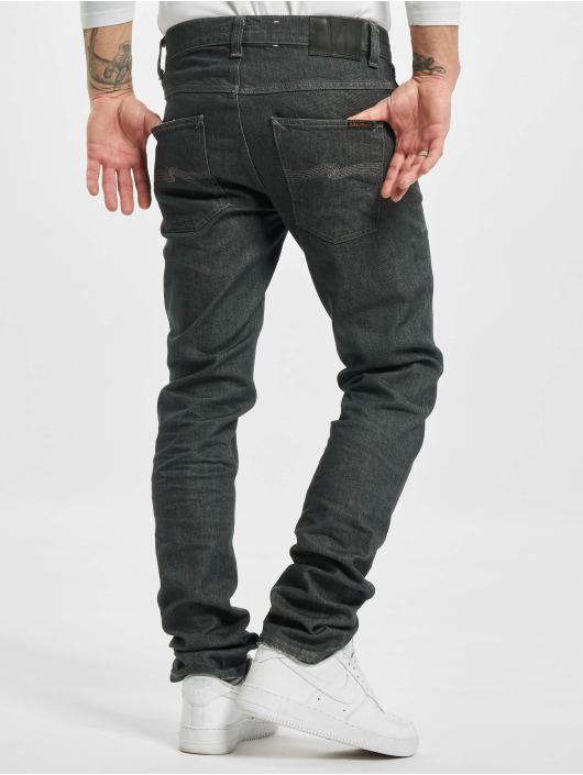 Nudie Jeans Straight Fit Jeans Grim Tim grau