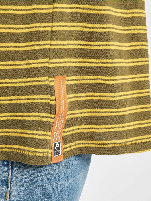 Nudie Jeans T-Shirt Anders Double Stripe grün