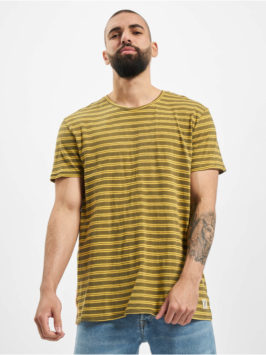 Nudie Jeans T-Shirty Anders Double Stripe zielony