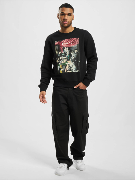 Off-White Пуловер Caravag Painting Slim черный
