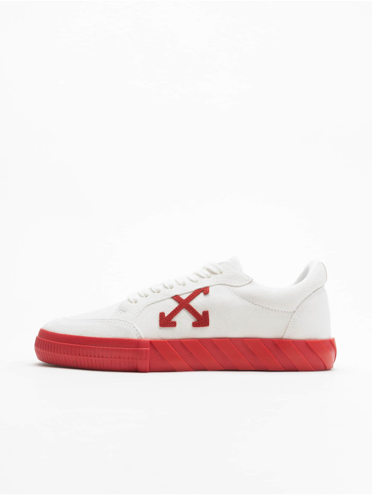 Off-White Сникеры Low Vulcanized Suede Leather белый