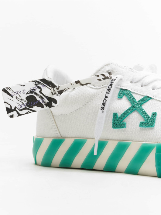Off-White Сникеры Low Vulcanized Canvas белый