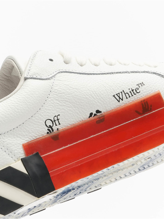 Off-White Сникеры Low Vulcanized Calf Leather белый