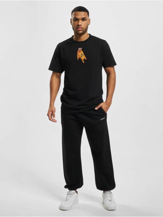 Off-White Спортивные брюки Caravag Paint черный